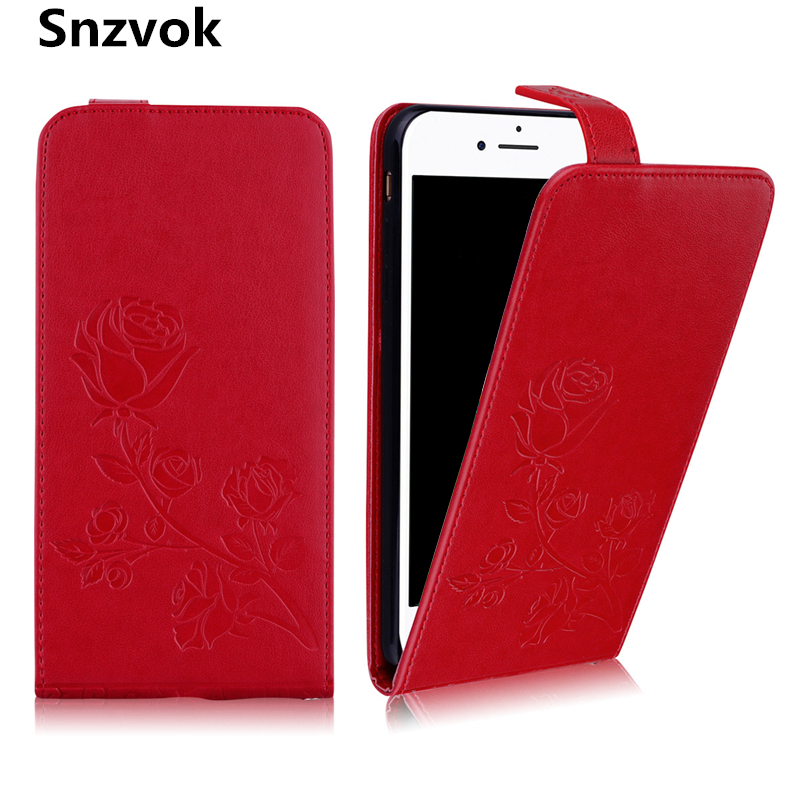 Snzvok Universal Up and down Flip Phone Bag cover for iPhone 8 7 Plus 6 6s plus PU Leather with card solt Magnetic buckle