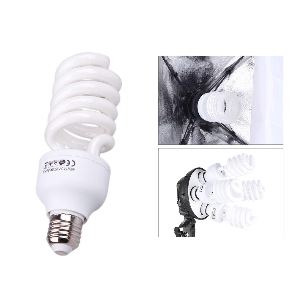 115W 5500K E27 Photo Studio Bulb Video Light Photography Daylight Lamp 220V