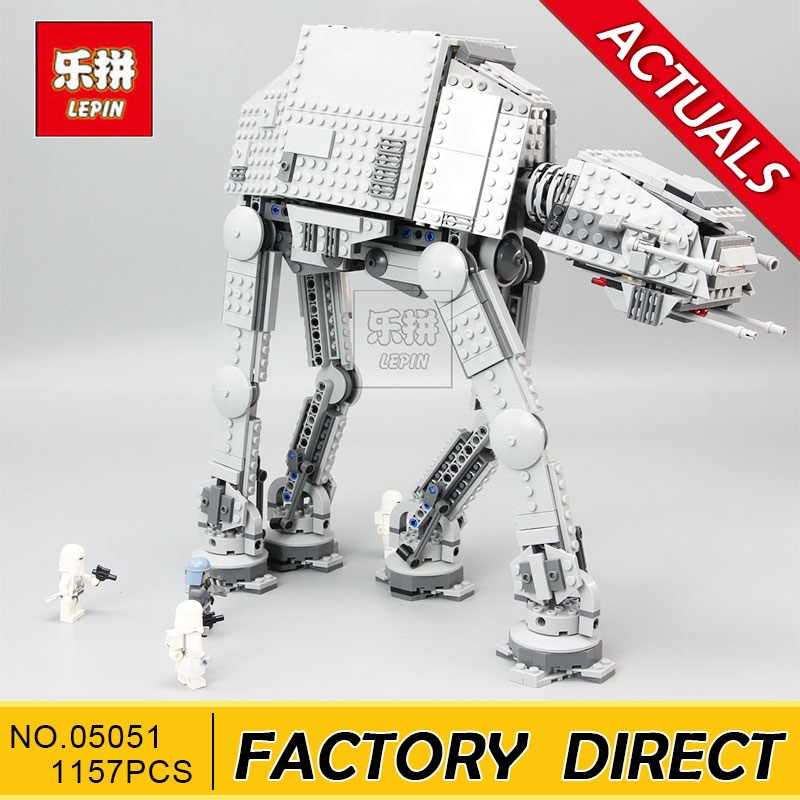 Lepin 05051 Star Series War Force Toys Awaken The AT Model AT Transportation Armored Robot 75054 Building Blocks Bricks Toy