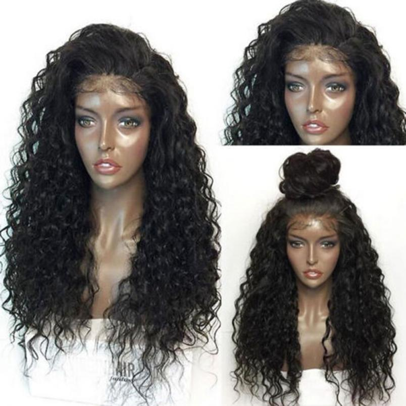 Charming Long Full Curly Wig Wavy Hair Brown Natural Drop Shippinng OC20 65cm cosplay wig lady long wavy hair full wigs party 3 colors