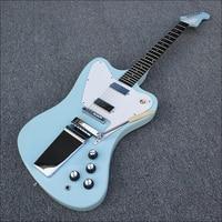Custom Shop Fire Bird electric guitar,Pale blue body with a ebony fingerboard,free shipping.