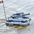 Envío Gratis 2015 Nuevo tanque RC 24883 de tierra y de agua anfibio juguetes de control remoto del tanque rc coche 4CH world of tanks vs XQ006