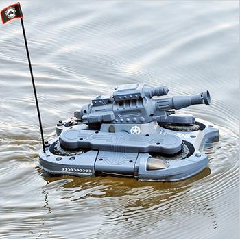 Frete Grátis 2015 Novo tanque RC 24883 em terra e água anfíbio brinquedos de controle remoto tanque de carro rc 4CH world of tanks vs XQ006