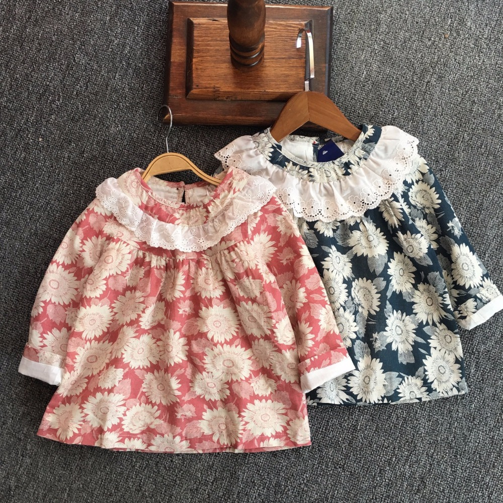 Clearance Sale Girls Blouse 2018 New Spring Autumn Princess Lace Top  High Quality Children Girls Clothes 100% Cotton