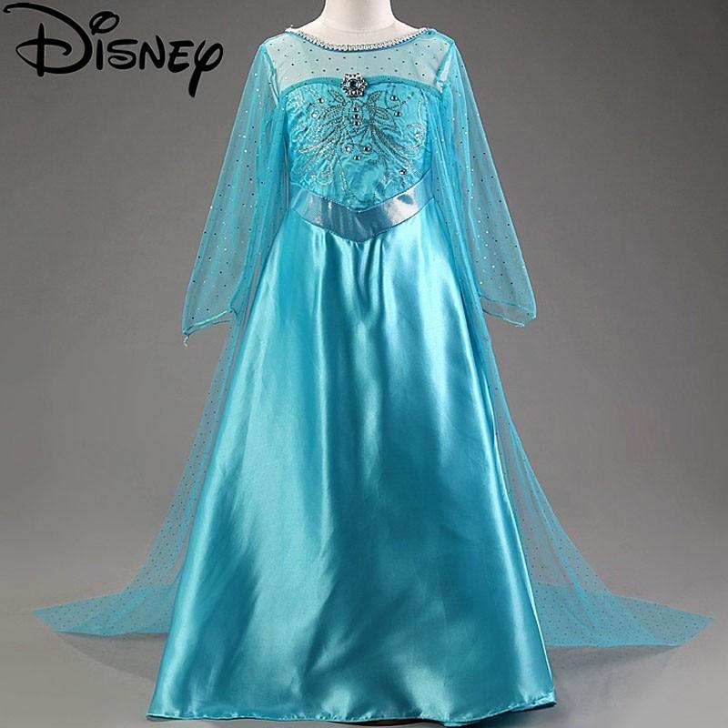 Online Shop Disney Frozen dress Elsa costume snow queen party princess Anna  girls clothes vestidos infantis Halloween Birthday trolls moana  4db6d12150