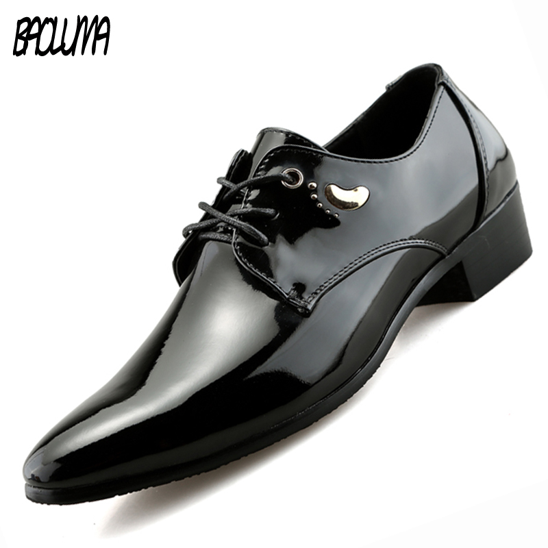 Mens Pointy Shoes Spring Autumn Men Formal Wedding Shoes Luxury Men Business Dress Men Loafers Pointy Shoes Large Sizes 38-47 choudory summer dress crocodile skin shoes men breathable prom shoes full grain leather pointy mens formal shoes shoe lasts