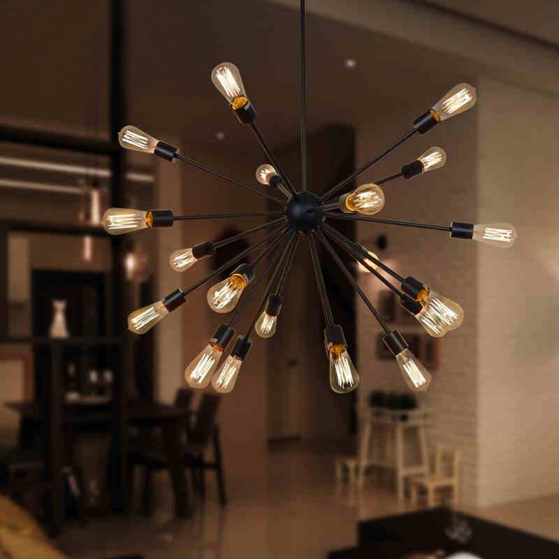 Vintage Ceiling Light Celestial Sputnik Black Lamp Table Hanging Lamp  Kitchen Fixtures Indoor Lighting Light Luminiares  In Ceiling Lights From  Lights ...
