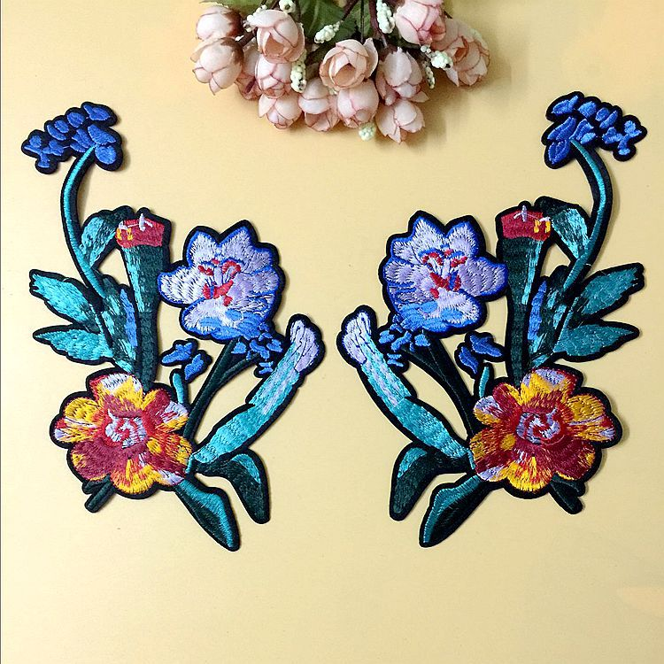 New Three-dimensional Flower Cloth Sticker Multi-color Felt Cloth Adhesive Embroidery Decal Patch Garment Accessories