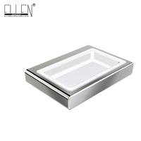 Soap Dish Holder Accessories Banheiro with cermica dish Chrome Finished Bathroom Products EL81885