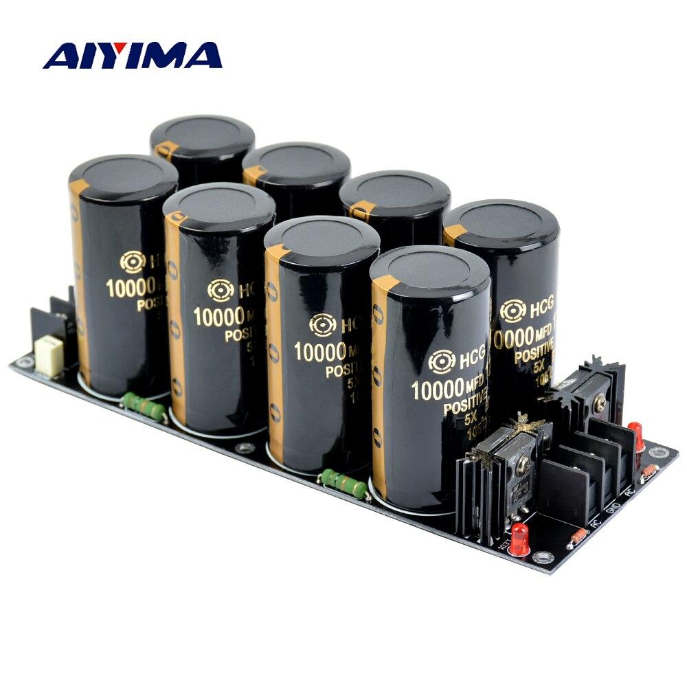 AIYIMA 120A Amplificatore Filtro Raddrizzatore di Alimentazione Scheda di Alimentazione Ad Alta Potenza Schottky Raddrizzatore Filtro di Alimentazione di Bordo 10000 uf 125 v