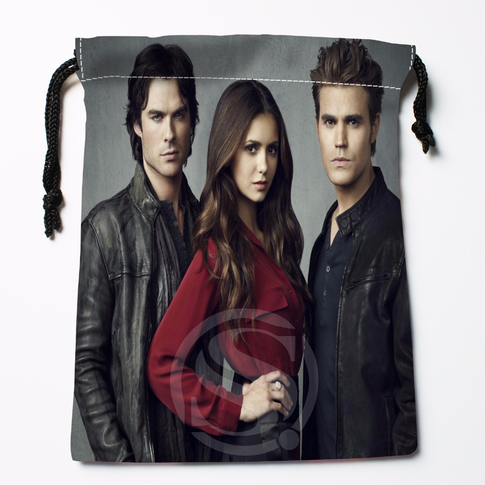 Fl-Q70 New The Vampire Diaries &8 Custom Logo Printed  Receive Bag  Bag Compression Type Drawstring Bags Size 18X22cm 711-#F70