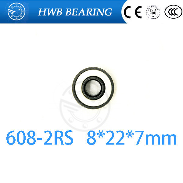 10pcs 608-2RS 608RS 608 2RS 8mm x 22mm x 7mm white double rubber sealing cover deep groove ball bearing for hand spinner