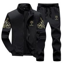 Men Tracksuit Sets Spring Autumn Clothing Jacket+Pants Sweatshirts 2 Piece Set Male Fashion Suit Coat Large Size 8XL 9XL