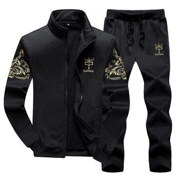Men Tracksuit Sets Spring Autumn Clothing Jacket+Pants Sweatshirts 2 Piece Set Male Fashion Suit Coat Large Size 8XL 9XL - discount item  42% OFF Men's Sets