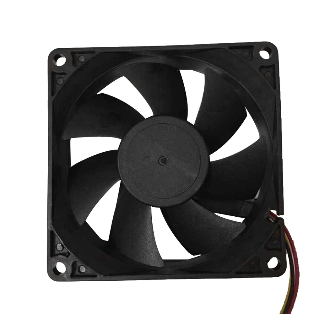 2018 Quiet 8cm/80x70x25mm pc cpu cooler 80 mm fan 12V Computer/PC/CPU Silent Cooling Fan For Radiator Mod for video card hot 2 x metal wire finger guard protection grid 80 mm pc fan cooler