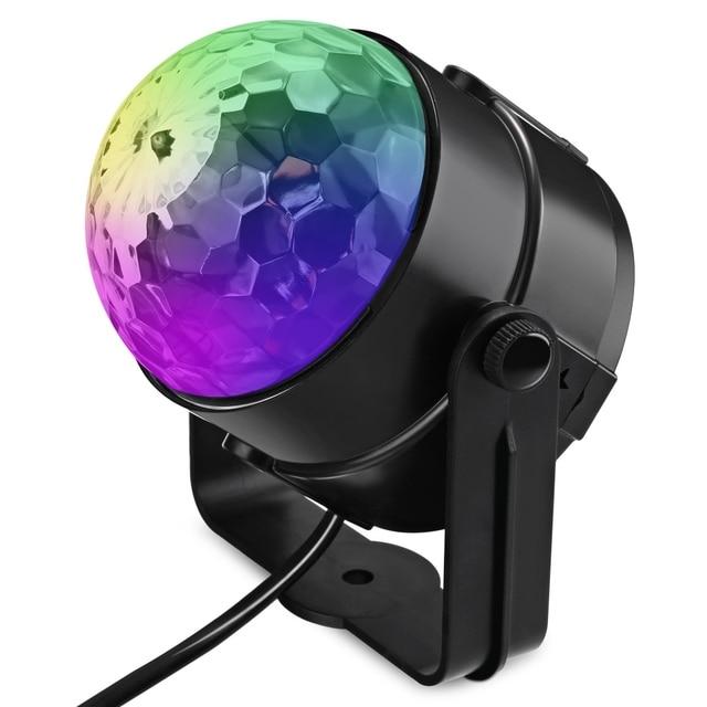 New LED Stage Lights Transparent Rotating Ball RGB Lamp PAR LED DMX