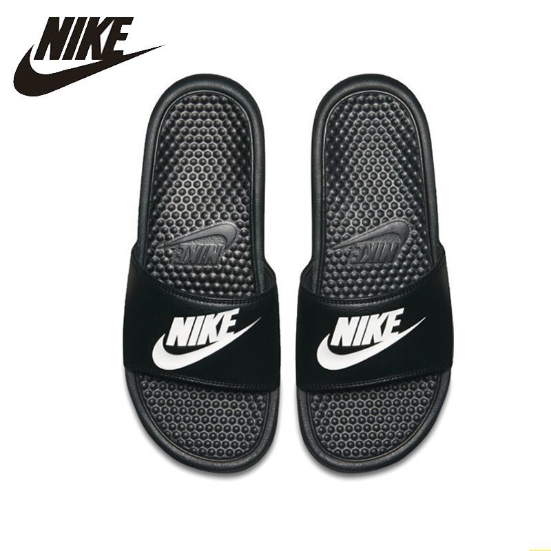Nike BENASSI JDI Original New Arrival Comfortab Black Sports Slippers Anti-slip Sandals #818736-011