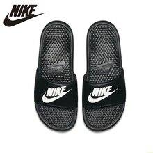 Nike BENASSI JDI Original New Arrival Comfortab Black Sports Slippers Anti-slip Sandals #818736-011 original new arrival 2018 nike nsw pant oh ft jdi men s pants sportswear