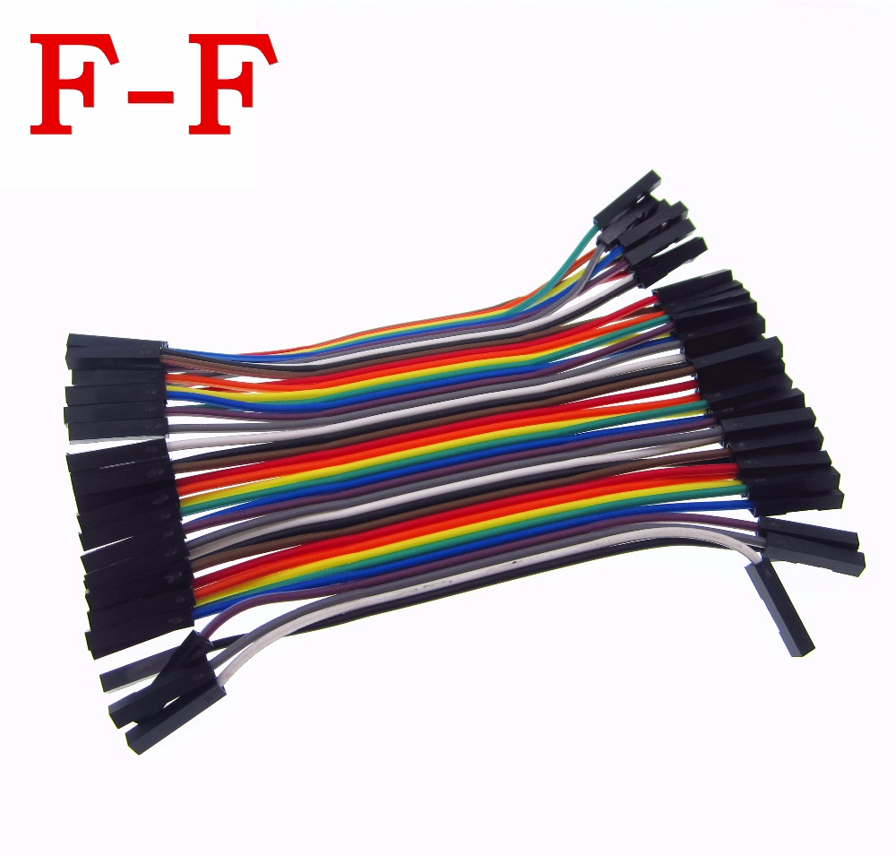 HAILANGNIAO 40pcs/lot 10cm 2.54mm 1pin 1p-1p Female To Female Jumper Wire Dupont Cable
