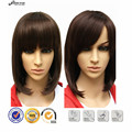 Classic Fashion Women Lady's Cheap Wig Short Black Brown Hair Wigs Bobo Wigs Heat Resistant Synthetic Hair Wigs + Free Cap