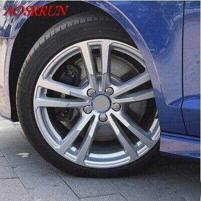 4 UNIDS Modificado círculo rueda cubierta de círculo brillante - Accesorios de interior de coche - foto 3
