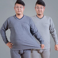 Autumn And Winter Fat people Men's V-neck Large size plus  thin section of thermal  underwearOne set 5XL/6XL/111003