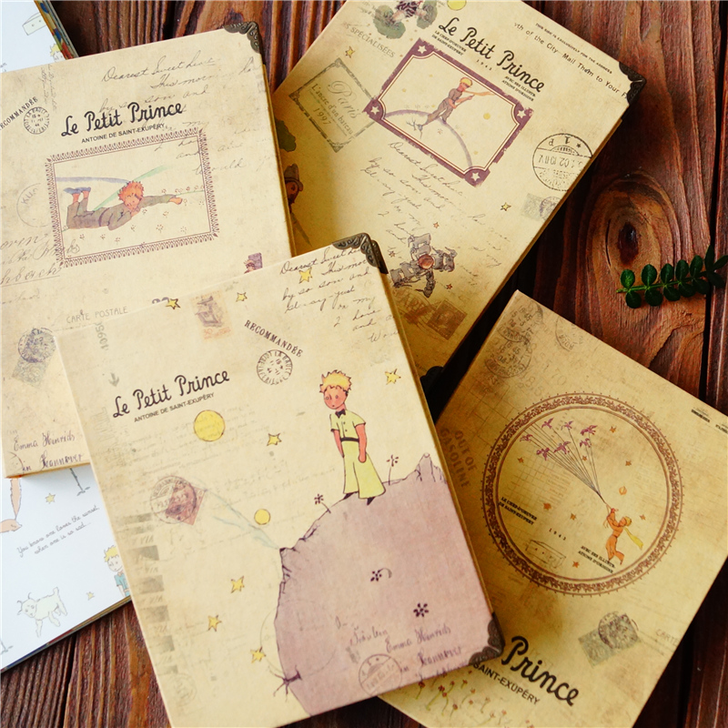 Vintage Notebook Little Prince Diary Book Notepad Retro Journal Stationery Boys Girls Kids School Office Supplies