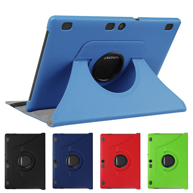 360 Rotating PU Leather Case for Lenovo Tab 2 A10-30 A10-70 A10-70F A10-70L X30 leather Smart protective tablet cover+Film+Pen