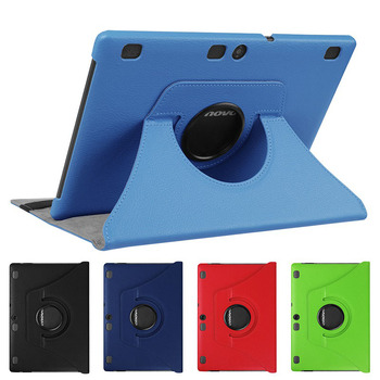360 Rotating PU Leather Case for Lenovo Tab 2 A10-30 A10-70 A10-70F A10-70L X30 leather Smart protective tablet cover+Film+Pen - discount item  10% OFF Tablet Accessories