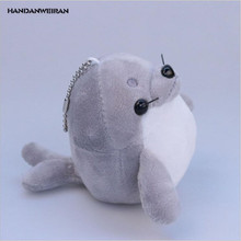 HANDANWEIRAN 1Pcs PP Cotton 10CM New Kawaii Seals Stuffed Toys Cute Marine Animal Pendant Kids Gift Doll Plush Toy Keychain