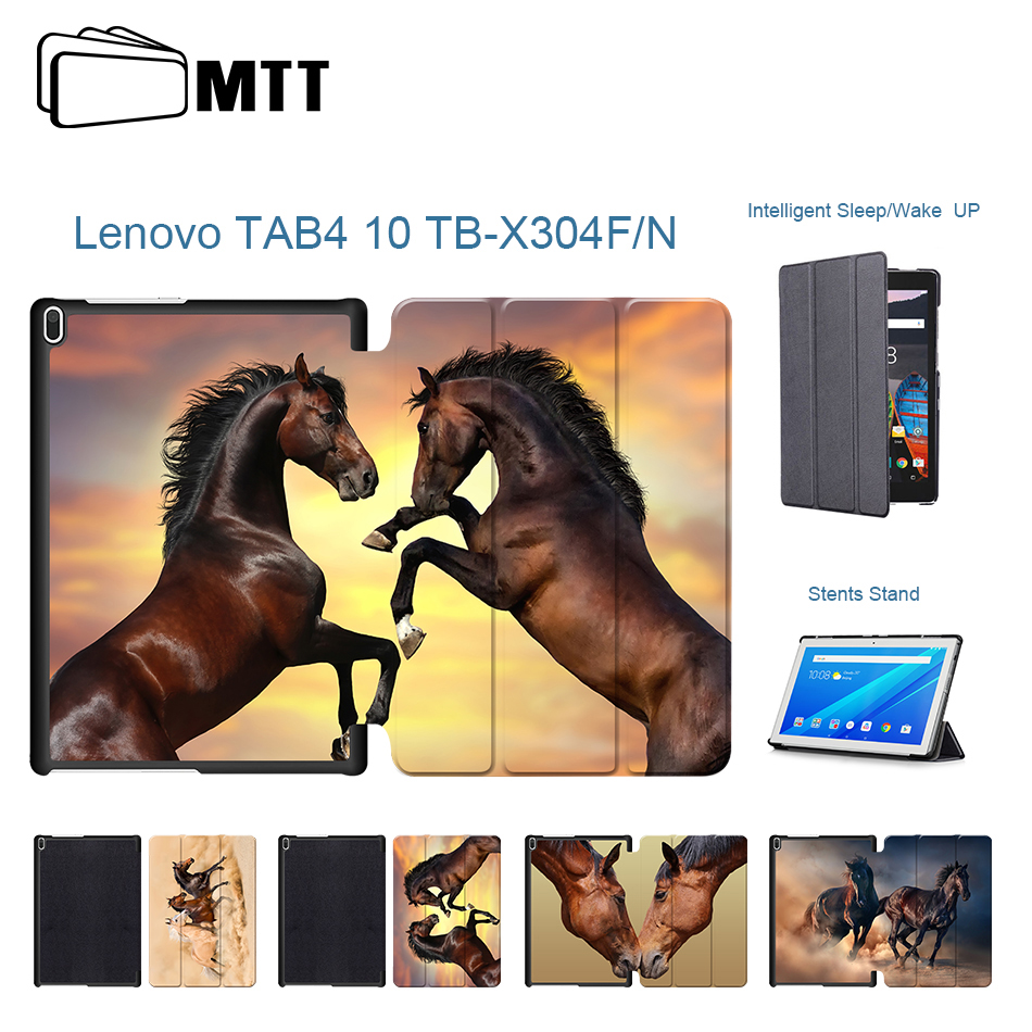 Horses Protective Sleeve Case For Lenovo Tab 4 10 TB X304L X304N Cover Smart Leather Tab4 10 TB-X304F Cases 10.1''Tablet Covers ultra slim cover case for lenovo tab 4 10 2017 release for lenovo tab410 tab4 10 tb x304n f cases 10 1 smart case cover gitf