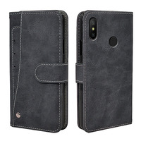 Luxury Vintage Case For Xiaomi Mi A1 A2 Lite Mix 2 2S 3 A3 Case Flip Leather Silicone Wallet Cover Business Fundas Card Solts