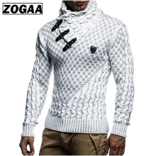 ZOGAA Men Sweaters 2018 Brand New Warm Pullover Man Casual Knitwear Winter Black Sweatwer XXXL Computer Knitted