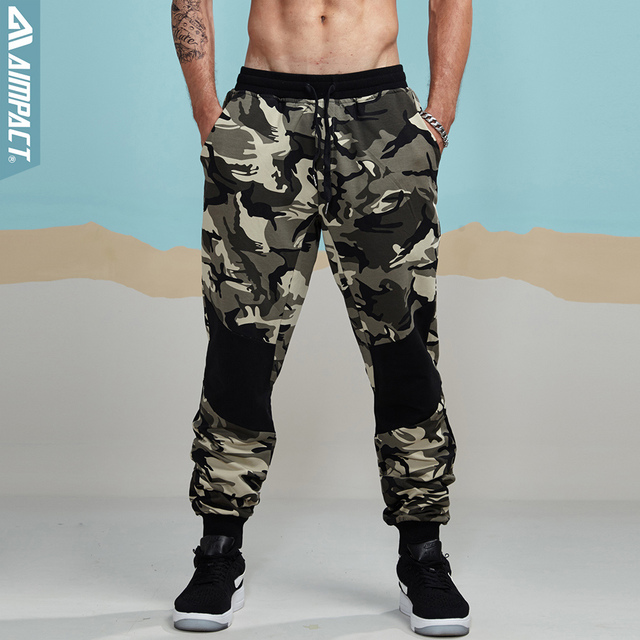 29ab733da3 Aimpact Camouflage Jogger Pants for Men Fitted Active Cotton Sweatpants Male  Track Pants Hiphop Casual Sporty Pants Man AM5006