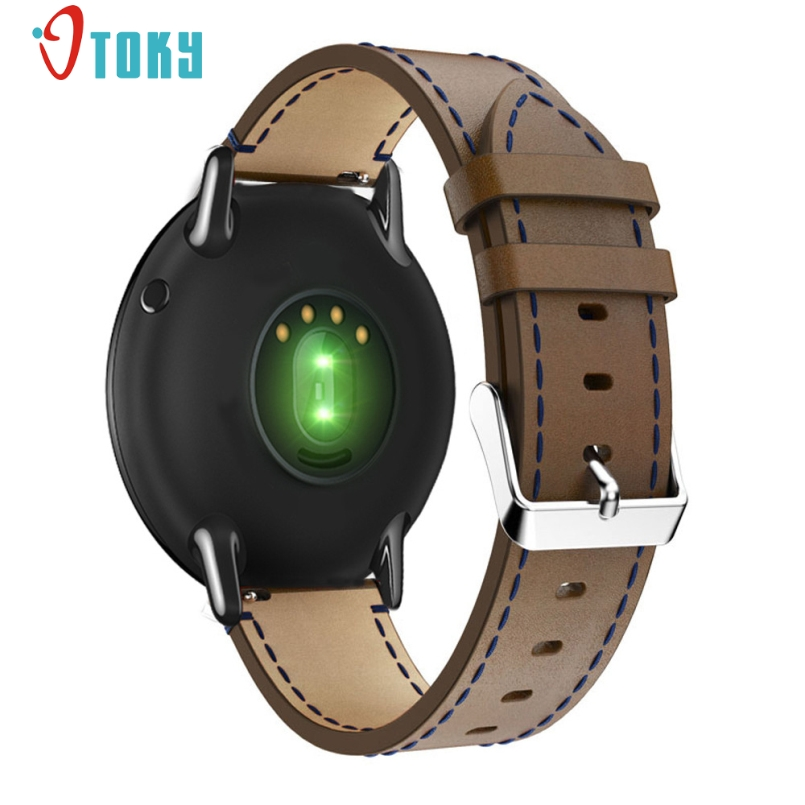 Excellent Quality Men Genuine Leather Watch Strap Replacement Leather Watch Bracelet Strap Band For Xiaomi Huami Amazfit A1602