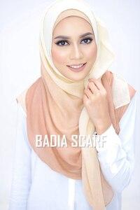 Image 5 - One Piece Ombre Hijab ผ้าพันคอแฟชั่นมุสลิม hijabs เหนียวผ้าฝ้ายอิสลามหัวห่อผู้หญิง Foulard Maxi ผ้าคลุมไหล่ผ้าพันคอ