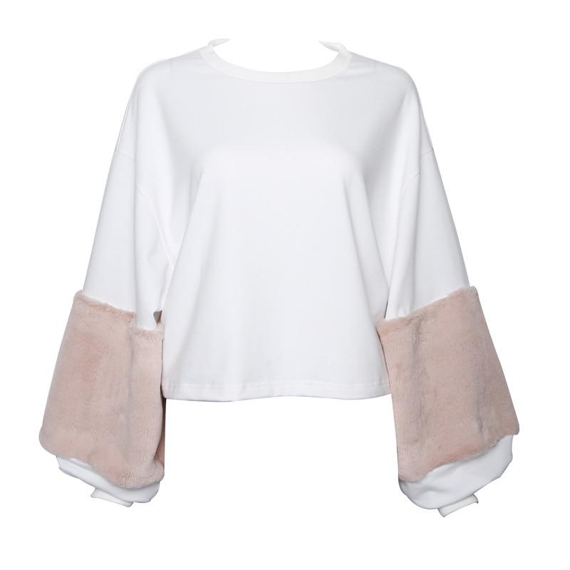 HTB12q7kSXXXXXbJXFXXq6xXFXXXA - FREE SHIPPING Women Faux Fur Crop Hoodies Sweatshirt Tumblr Oversize Pink JKP282