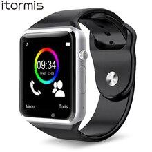 Хорошее ITORMIS W31 Bluetooth Смарт Умные Часы встроенный телефон Собственная SIM-карта TF-карта Спорт Фитнес Шагомер Мониторинг Сна A1 для Android Samsung Xiaomi Huawei PK DZ09 GT08