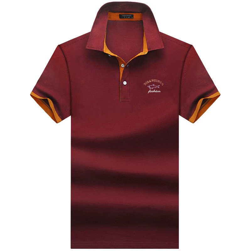 SHABIQI Brand clothing New Men Polo Shirt Men Business /& Casual solid male polo
