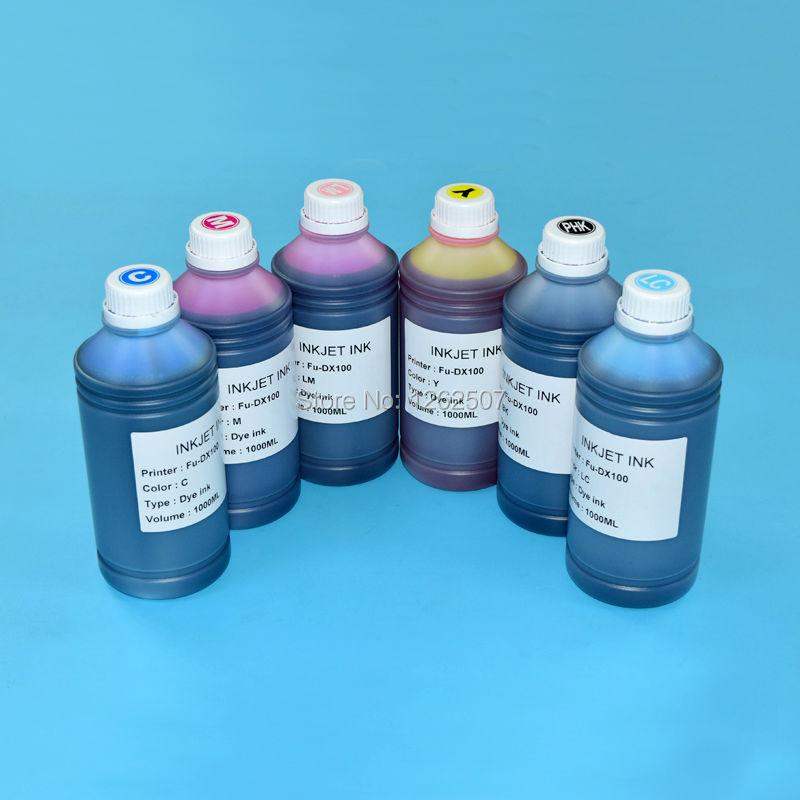 T7811-T7816 For Fuji DX100 UV Dye ink For Fujifilm DX100 Printing bulk ink 1000ml*6colors High quality Water based Bottle inks цена