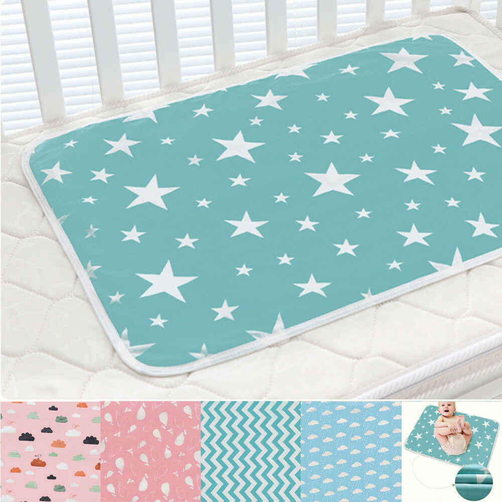 2019 Brand New Infant Baby Toddler Urine Mat Waterproof Change Cute  Pad Cover Changing Home Bed Nappy Diaper 50*70cm