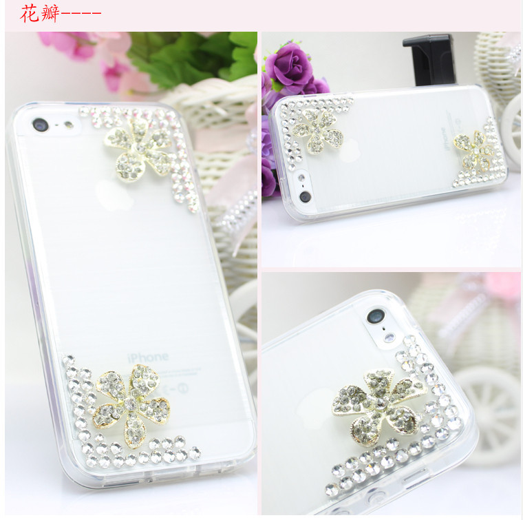 For Huawei P7 case rhinestone mobile phone cases Transparent case protective cover colorful glossy case 7