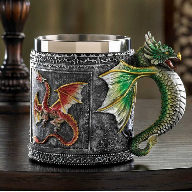 2018 HOT Disfraz Drago Mujer Game Of Thrones Tazze Copo Caneca decorativo Royal Cool 3D Drago Per Il Regalo Creativo Tazza di Caffè Tè