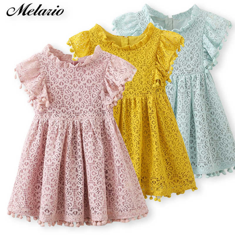 a05485deb235 Melario Girls dress 2019 New Summer Dress Children Clothing Fashion Tassel  Princess Girl Clothes Kids Dresses