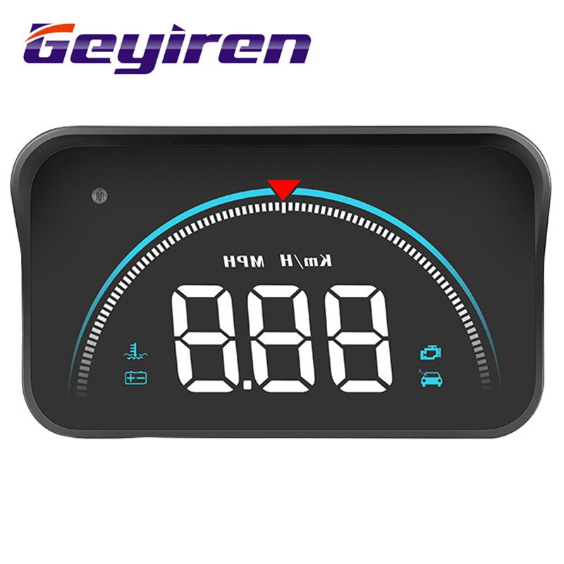 Car HUD Head-Up Display General Vehicle Mounted Display Monitor Windshield Auto Windshield Speed Projector Alarm System M8