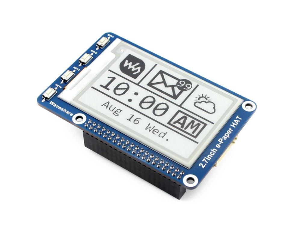 2,7 дюймов e paper HAT 264x176 2,7 дюйма E Ink дисплей для Raspberry Pi 3B/2B/Zero W SPI интерфейс поддерживает два цвета-in Доски для показов from Компьютер и офис
