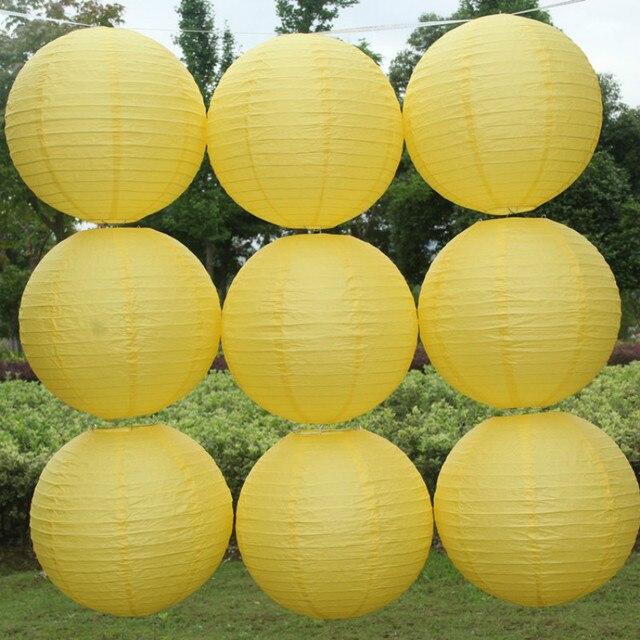 Hot 10-40 cm (4-16 inch) trung quốc Giấy Màu Vàng đèn lồng wedding party đèn đèn chùm Nhà Vườn lễ kỷ niệm trang trí đèn lồng bóng