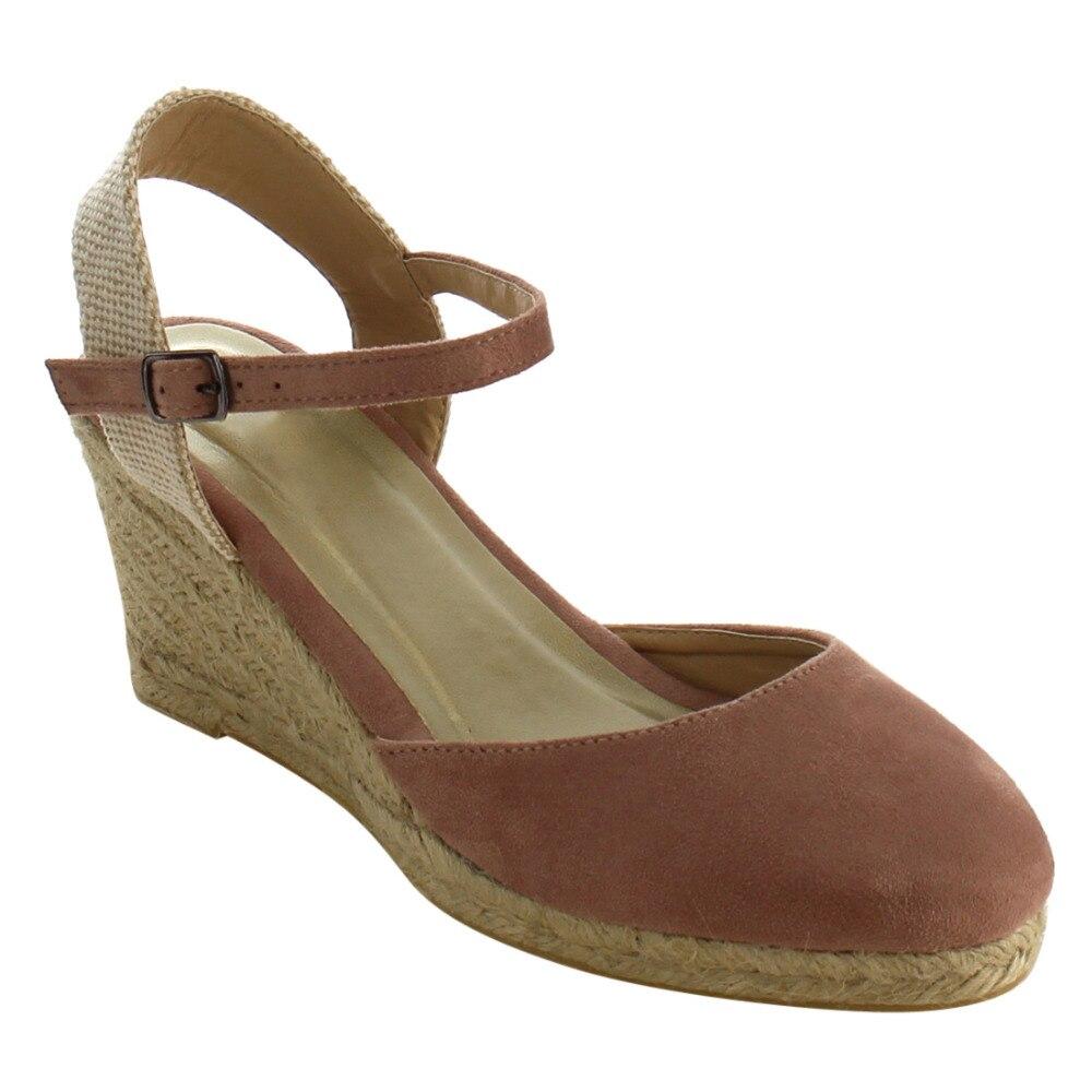 Id90 Women S Shoes Espadrille Buckle Ankle Strap Platform