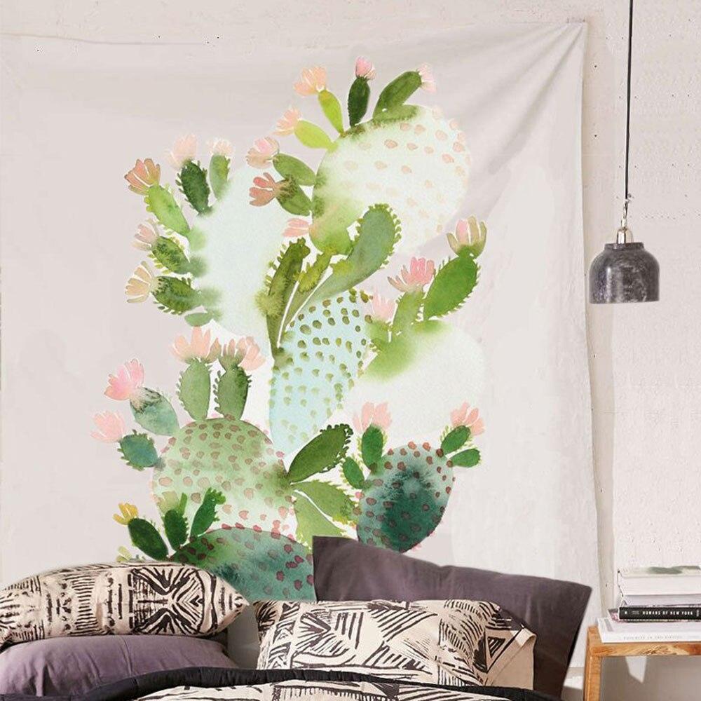 Cactus Aquarelle Tenture Murale Tapisseries Mandala Bohème