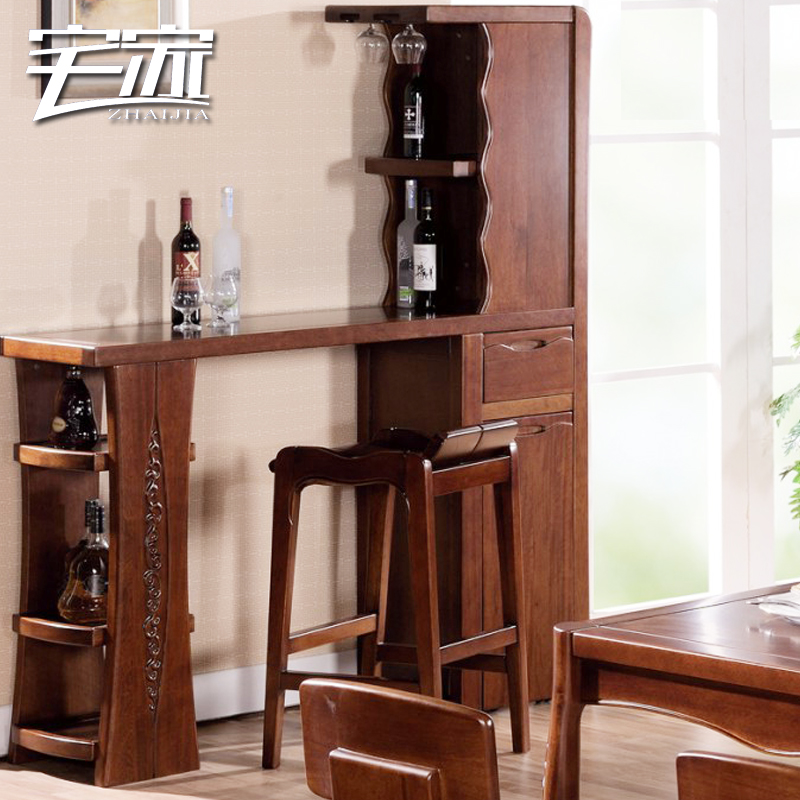 Online Shop Apartment Solid Wood Cabinet Bar Table Bar Tables Console  Cabinet Partition Cabinet Walnut Solid Wood Furniture 5610 | Aliexpress  Mobile
